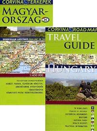 Corvina Kiadó: Hungary Travel Guide + Road Map - Magyarország idegenforgalmi autóstérkép -  (Könyv)