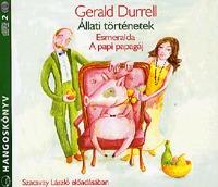 Gerald Durrell: Állati történetek - Hangoskönyv (2 CD) - Esmeralda, A papi papagáj -  (Könyv)