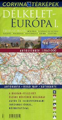Corvina Kiadó: Délkelet-Európa I. autóstérképe - 1:860000 -  (Könyv)