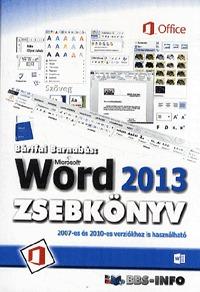 Bártfai Barnabás: Microsoft Word 2013 zsebkönyv -  (Könyv)