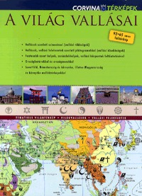 Corvina Kiadó: A világ vallásai - falitérkép -  (Könyv)