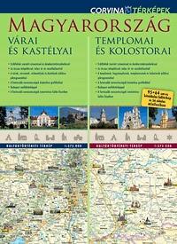 Corvina Kiadó: Magyarország várai és kastélyai - Magyarország templomai és kolostorai (duótérkép) -  (Könyv)