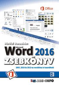 Bártfai Barnabás: Word 2016 zsebkönyv -  (Könyv)