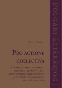 Dr. Udvary Sándor: Pro actione collectiva - A komplex perlekedés amerikai eszközei, különösen a class action összehasonlító vizsgálata az intézmény magyarországi recepciója céljából -  (Könyv)