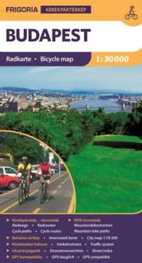 Frigoria Könyvkiadó: Budapest kerékpáros térkép -  (Könyv)