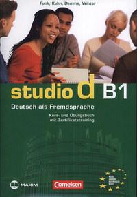 Hermann Funk, Silke Demme, Christina Kuhn: Studio D B1 Kurs- und Übungsbuch mit Zertifikatstraining - CD melléklettel - Deutsch als Fremdsprache -  (Könyv)