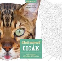 Cetin Can Karaduman: Állati színező - Cicák - 60 különleges 3D hatású állatos kép -  (Könyv)