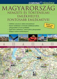 Corvina Kiadó: Magyarország nemzeti és történelmi emlékhelyei, fontosabb emlékművei - 95*64 cm-es falitérkép -  (Könyv)