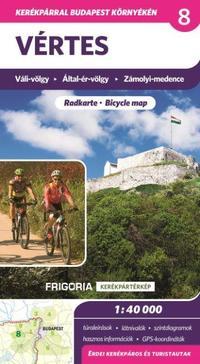 Frigoria Könyvkiadó: Vértes kerékpáros térkép -  (Könyv)