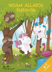 Korsós Szabina: Vidám állatos fejtörők 4-7 éveseknek -  (Könyv)