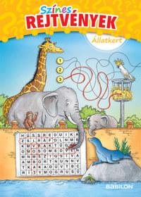 Színes rejtvények - Állatkert - 6 éves kortól -  (Könyv)