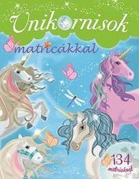 Unikornisok matricákkal - Zöld -  (Könyv)