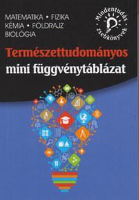 Természettudományos mini függvénytáblázat - matematika, fizika, kémia, földrajz, biológia -  (Könyv)