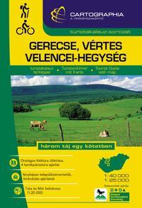 """Gerecse, Vértes, Velencei-hegység turistakalauz 1:40 000,1:25 000 """"SC"""" - három táj egy kötetben -  (Könyv)"""