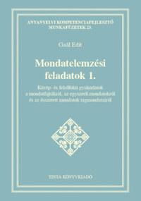 Gaál Edit: Mondatelemzési feladatok 1. -  (Könyv)
