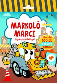 Markoló Marci - rajzos feladványai - Több mint 100 db ajándék matrica -  (Könyv)