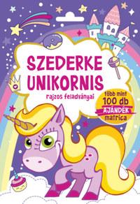 Szederke Unikornis - rajzos feladványai - Több mint 100 db ajándék matrica -  (Könyv)