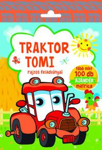 Traktor Tomi - rajzos feladványai - Több mint 100 db ajándék matrica -  (Könyv)
