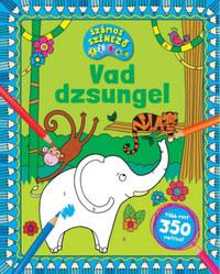 Vad dzsungel - Számos színező - Több mint 350 matrica! -  (Könyv)