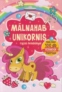 Málnahab unikornis rajzos feladványai - Több mint 100 db ajándék matrica -  (Könyv)