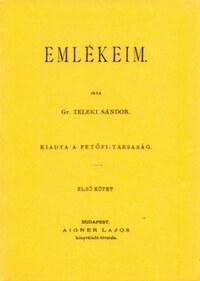 Teleki Sándor: Emlékeim. Első kötet -  (Könyv)