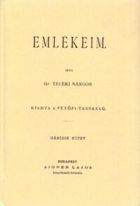 Teleki Sándor: Emlékeim. Második kötet -  (Könyv)