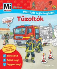 Tűzoltók - Mi MICSODA Junior Matricás rejtvényfüzet - Rejtvények, színezők, matricák! -  (Könyv)